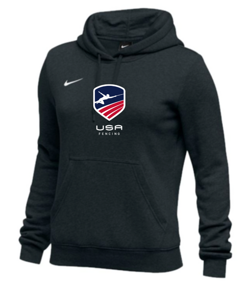 Nike Women's USAF Club Fleece Pullover Hoodie - Black