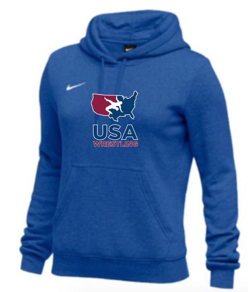 Nike Women's USAWR Club Fleece Pullover Hoodie - Royal