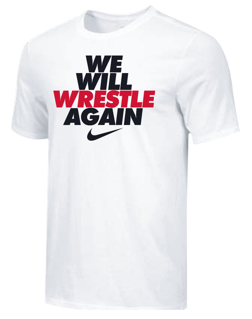 Nike Men's We Will Wrestle Again Tee - White/Black