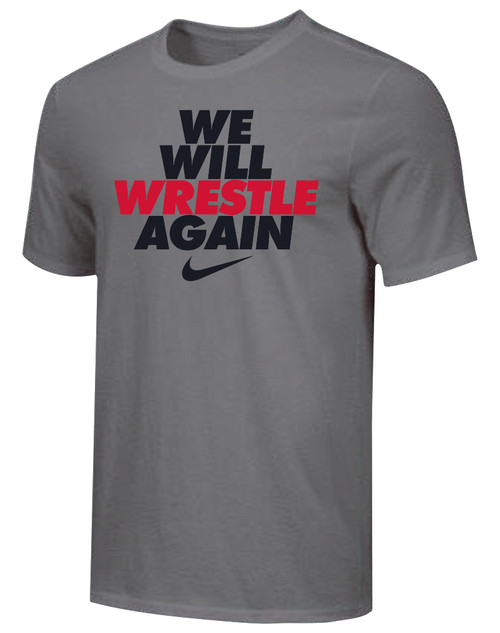 Nike Men's We Will Wrestle Again Tee - Grey/Black