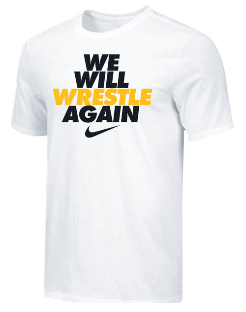 Nike Men's We Will Wrestle Again Tee - White/Black/Gold