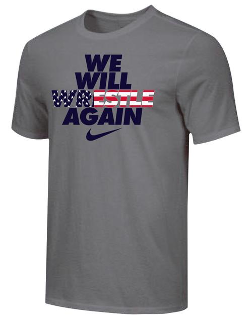 Nike Men's We Will Wrestle Again Tee - Grey/Stars/Stripes