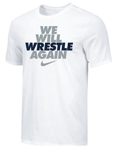 Nike Men's We Will Wrestle Again Tee - White/Grey/Navy