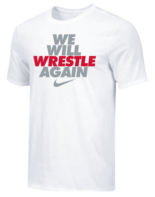 Nike Youth We Will Wrestle Again Tee - White/Grey/Red