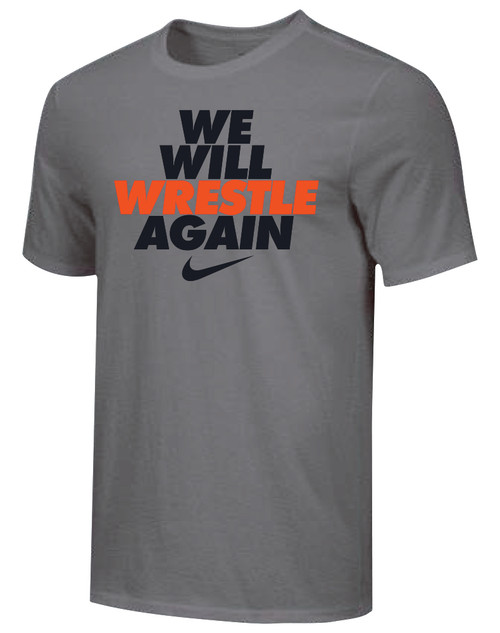 Nike Youth We Will Wrestle Again Tee - Dark Grey/Black/Orange