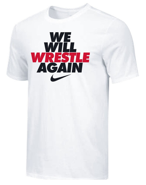 Nike Youth We Will Wrestle Again Tee - White/Black