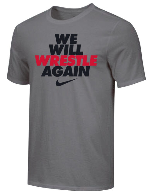 Nike Youth We Will Wrestle Again Tee - Dark Grey/Black