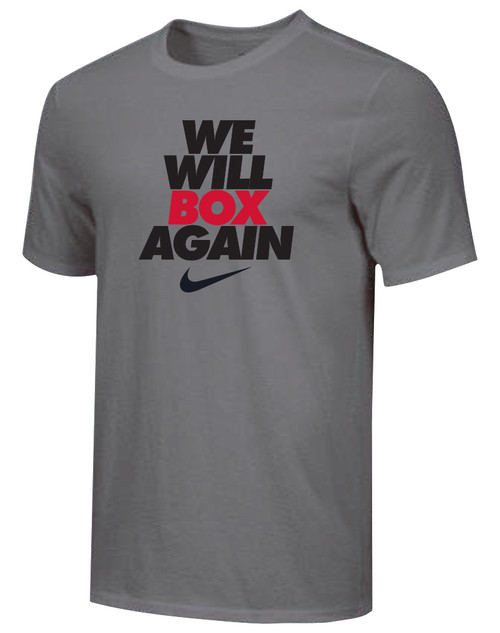 Nike Youth We Will Box Again Tee - Dark Grey/Black