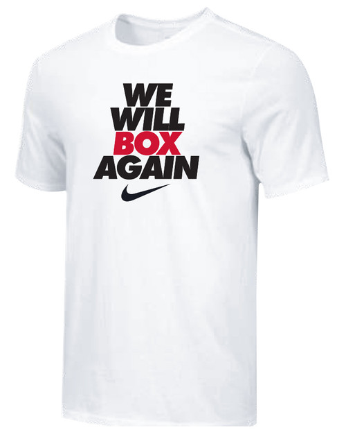 Nike Youth We Will Box Again Tee - White/Black