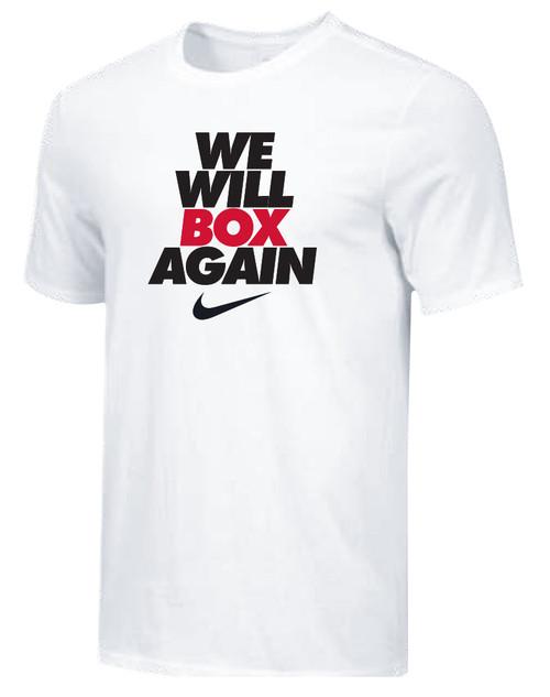 Nike Youth We Will Box Again Tee - White/Black
