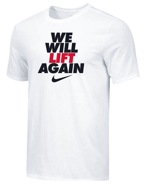 Nike Youth We Will Lift Again Tee - White/Black