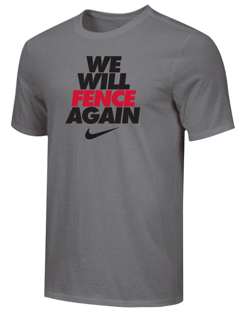 Nike Youth We Will Fence Again Tee - Dark Grey/Black