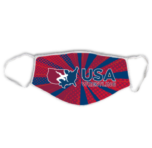 USA Wrestling Non-Medical Face Covering - Red/White/Blue