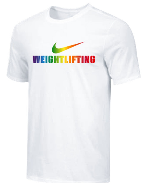 Nike Men's Weightlifting Pride Tee - White