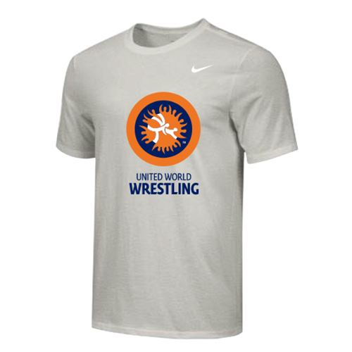 Nike Youth UWW Circle Logo Tee - Grey/Orange/Blue
