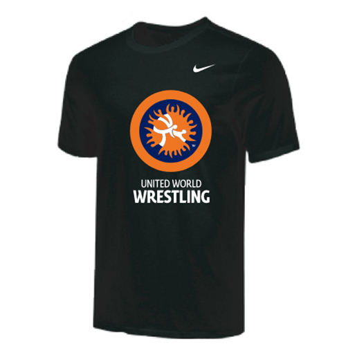 Nike Youth UWW Circle Logo Tee - Black/Orange/Blue