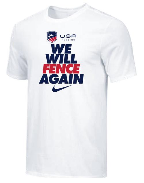 Nike Men's USAF We Will Fence Again Tee - White/Black