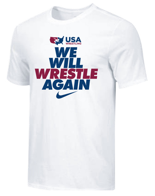 Nike Men's USAWR We Will Wrestle Again Tee - White/Black