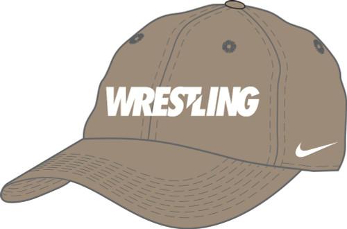 Nike Wrestling Campus Cap - Khaki/White