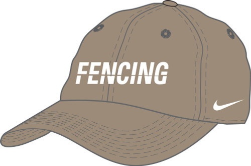 Nike Fencing Campus Cap - Khaki/White
