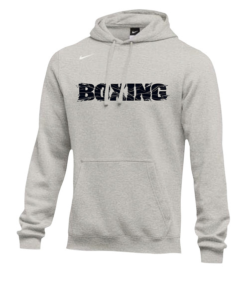 Nike Men's Boxing Club Fleece Hoodie - Grey/Black
