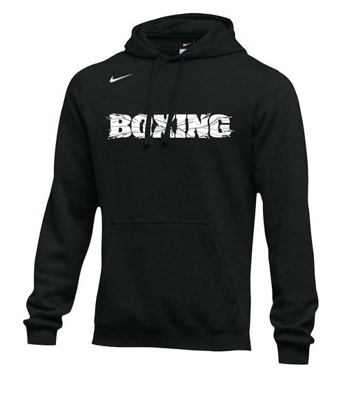 Nike Men's Boxing Shattered Logo Club Fleece Hoodie - Black/White