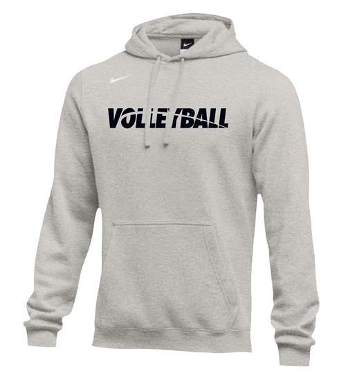 Nike Men's Volleyball Club Fleece Hoodie - Grey/Black
