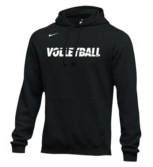 Nike Men's Volleyball Club Fleece Hoodie - Black/White
