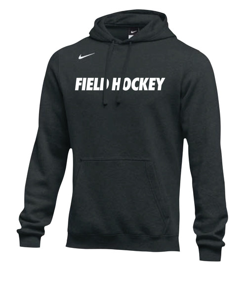 Nike Men's Field Hockey Club Fleece Hoodie - Black/White