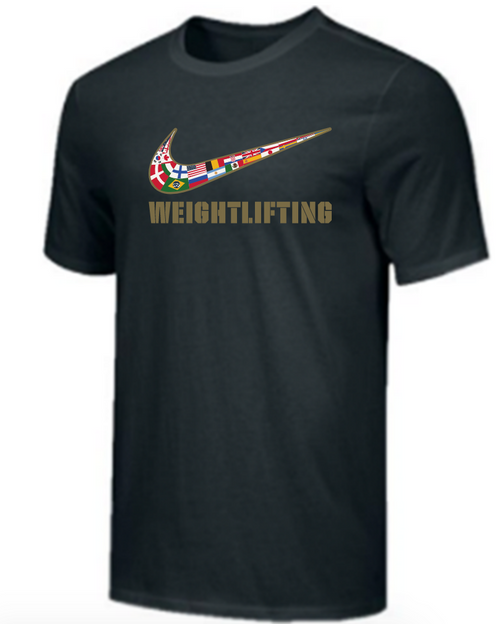 Nike Youth Weightlifting Multi Flag Tee - Black