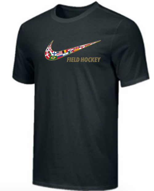 Nike Youth Field Hockey Multi Flag Tee - Black