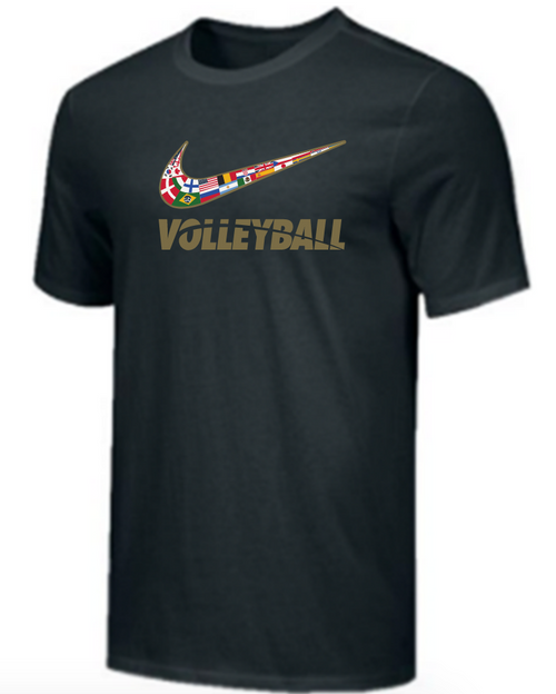 Nike Youth Volleyball Multi Flag Tee - Black