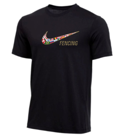 Nike Men's Fencing Multi Flag Tee - Black