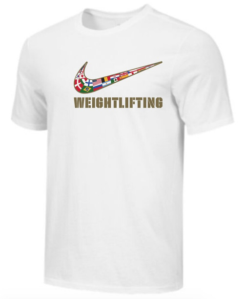Nike Men's Weightlifting Multi Flag Tee - White