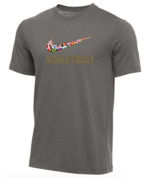 Nike Men's Volleyball Multi Flag Tee - Grey