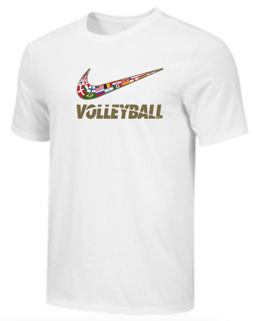 Nike Men's Volleyball Multi Flag Tee - White
