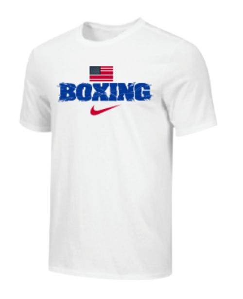 Nike Youth Boxing USA Flag Tee - White