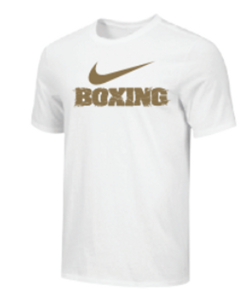 Nike Youth Boxing Shattered Logo Tee - Gold