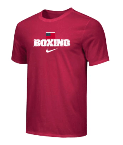 Nike Men's Boxing USA Flag Tee - Red