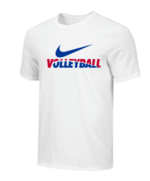 Nike Youth Volleyball Tee - White/Blue