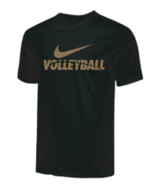 Nike Youth Volleyball Tee - Gold/Black