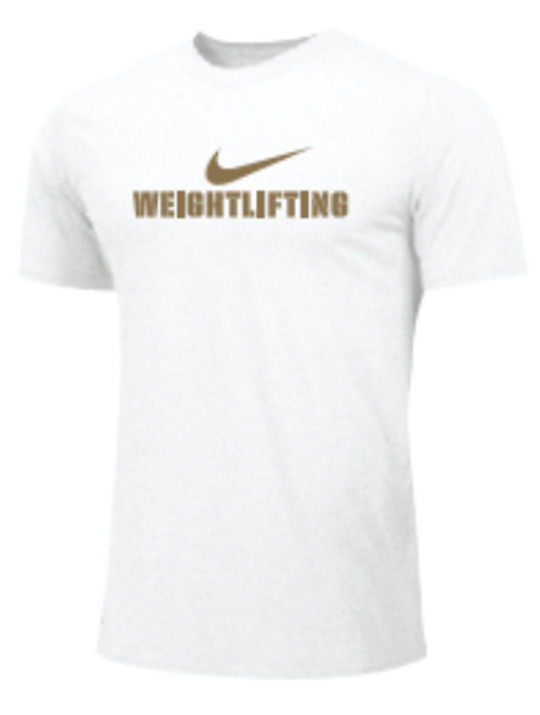 Nike Men's Weightlifting Tee - Gold/White