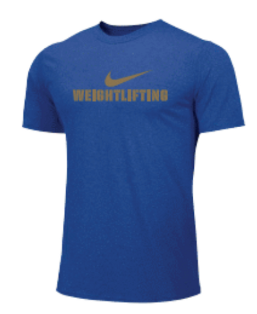 Nike Men's Weightlifting Tee - Gold/Royal