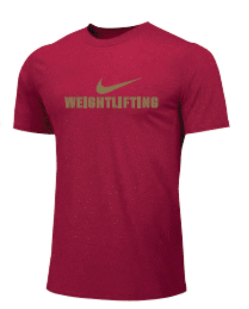 Nike Men's Weightlifting Tee - Gold/Red