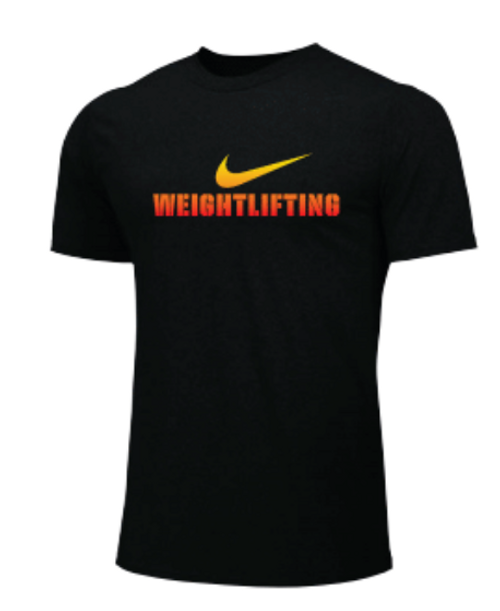 Nike Men's Weightlifting Tee - Black/Orange/Yellow