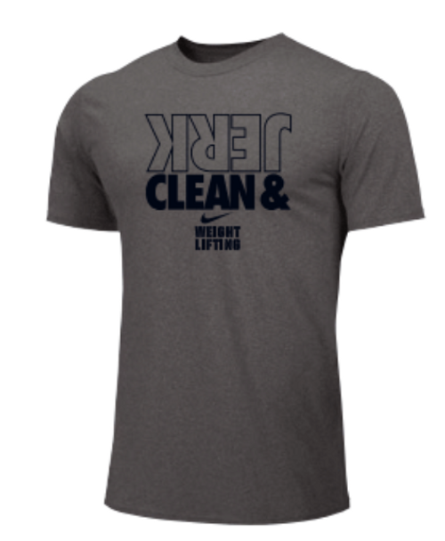Nike Men's Weightlifting Clean and Jerk Tee - Grey
