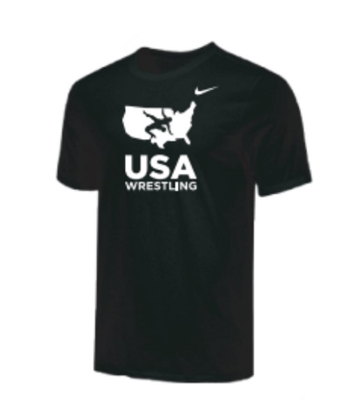 Nike Men's USA Wrestling Tee - Black/White