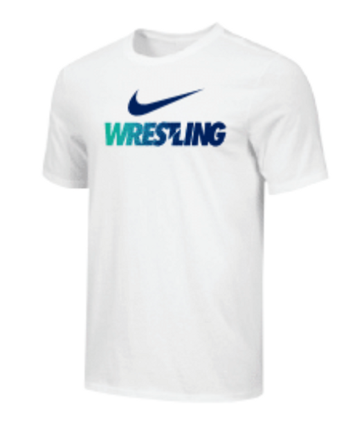Nike Men's Wrestling Tee - White/Blue