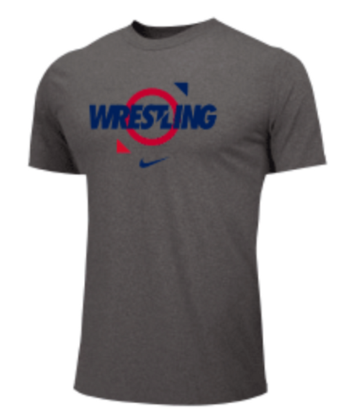 Nike Men's Wrestling Tee - Grey/Red/Blue