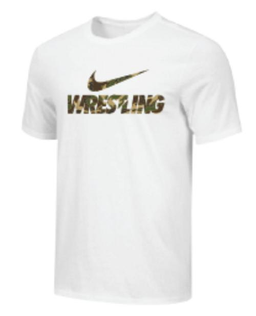 Nike Youth Wrestling Camo Tee - White